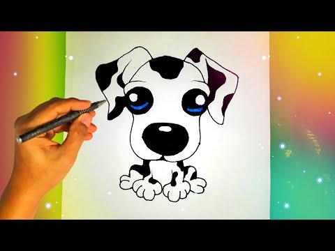 Как нарисовать милого ЩЕНКА? Лёгкие рисунки для срисовки