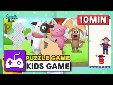 Larva KIDS | PUZZLE | JIGSAW PUZZLE | DIY GAME | GAME COMPILATION VIDEO