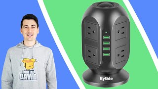 EyGde Power Strip Tower Surge Protector Review // Power Strip Tower