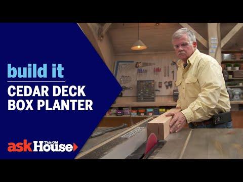 Build It | Cedar Deck Box Planter