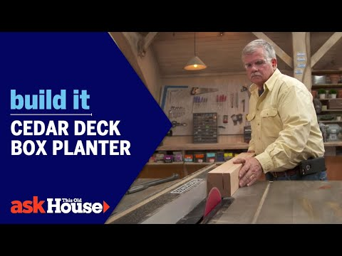 Cedar Deck Box Planter | Build It | Ask This Old House