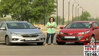 Honda City Vs Toyota Yaris Petrol Comparison Test