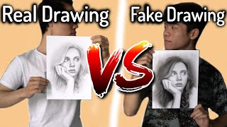Real Drawing VS Fake Drawing - DP ART DRAWING