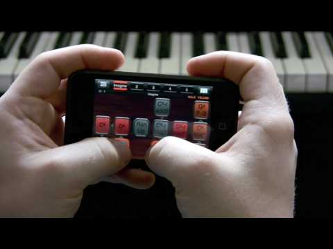 """Imagine"" on iPhone's PianoStudio"