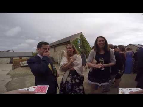 Cardiff Magician at Sophie & Sam's Wedding 7th September 2017 Rosedew Farm