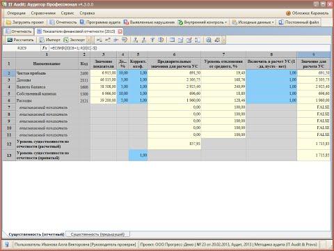 Как определить уровень существенности в бухгалтерской отчетности