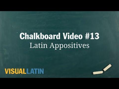 Latin Appositives | Visual Latin Chalkboard #13