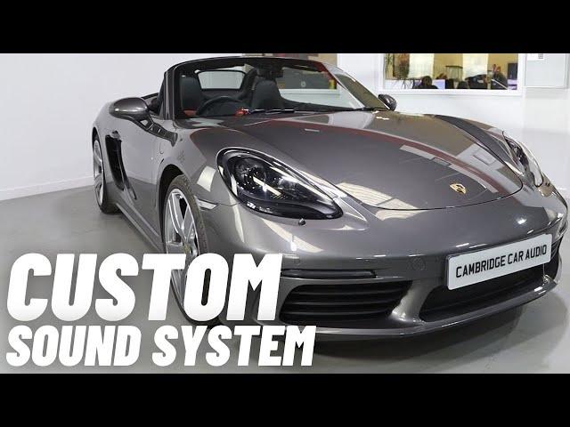 Porsche Boxter 718 | Audio System Upgrade