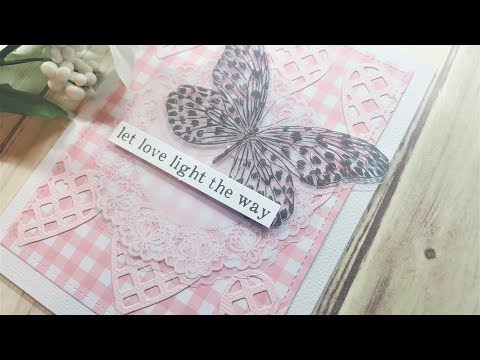 4 cards featuring Spellbinders June Card Kit