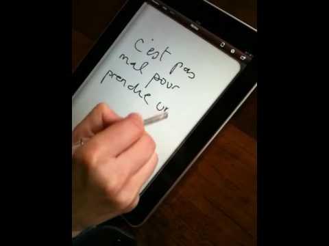 prise de notes avec un stylet sur un ipad youtube
