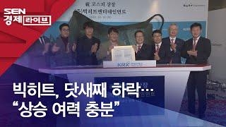 """빅히트, 닷새째 하락…""""상승 여력 충분"""""""