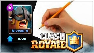 DESSIN DU BARBARE D ELITE (DRAW BARBARIANS ELITE)CLASH ROYALE
