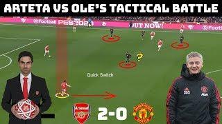 Tactical Analysis: Arsenal 2-0 Manchester United   Arteta Vs Solskjaer  tactical Battle