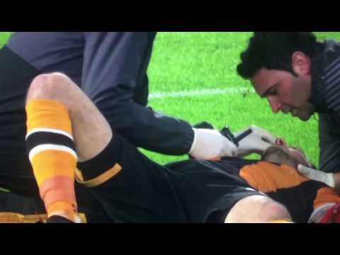 Head to head collision between Gary Cahill and Ryan Mason