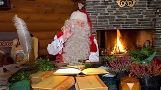 Reindeer of Santa Claus on the road again in Lapland: video message Father Christmas Finland