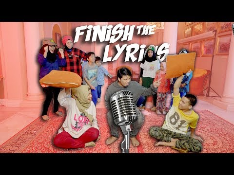 Gen Halilintar Lupa Lirik - Finish The Lyrics Challenge Part 2