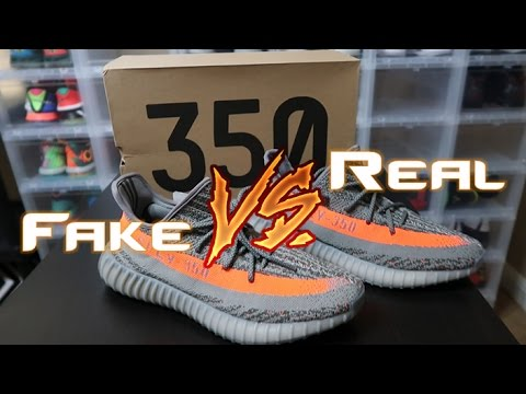 8780d4f33ee YEEZY 350 V2 BELUGA REAL VS FAKE LEGIT CHECK COMPARISON - YouTube