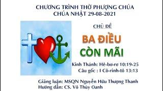 HTTL HUẾ - Chương trình thờ phượng Chúa - 29/08/2021