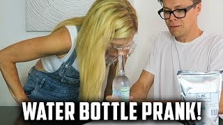 HILARIOUS WATER BOTTLE PRANK ON REBECCA! (DAY 160) comp