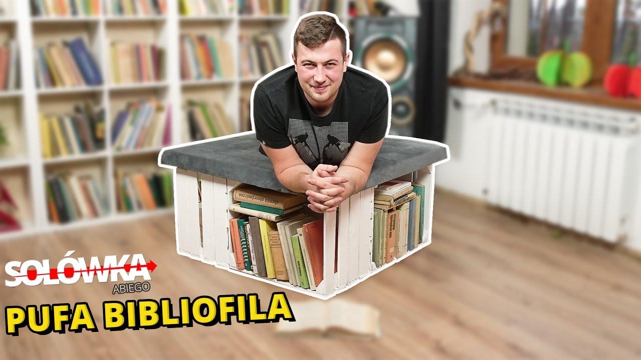 Jak zrobić stylową pufę z miejscem na książki