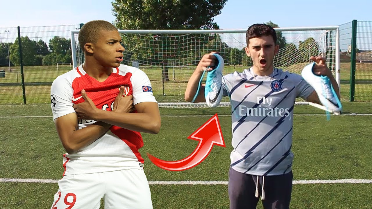 a246419a4bdb MBAPPE GAVE ME HIS FOOTBALL BOOTS!!!! - YouTube