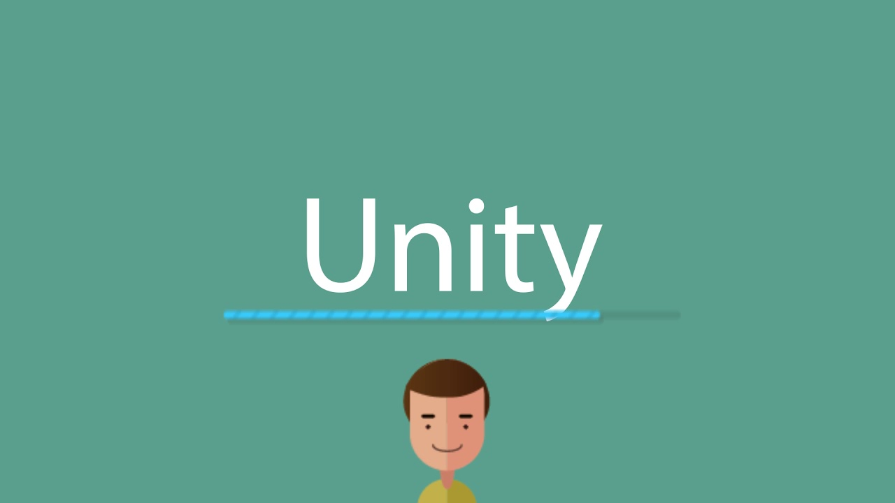 what does the word unity means