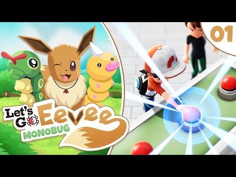 Pokémon Lets Go Eevee MonoBUG Lets Play! - Episode #1 - A Brilliant Adventure! w/ aDrive
