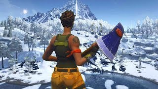 Default Skin Hacker gets onto the NEW MAP on Fortnite...