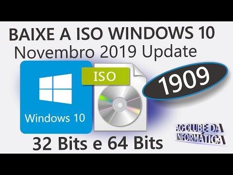 Como Baixar a ISO Original Windows 10 Novembro 2019 1909 32Bits ou 64Bits