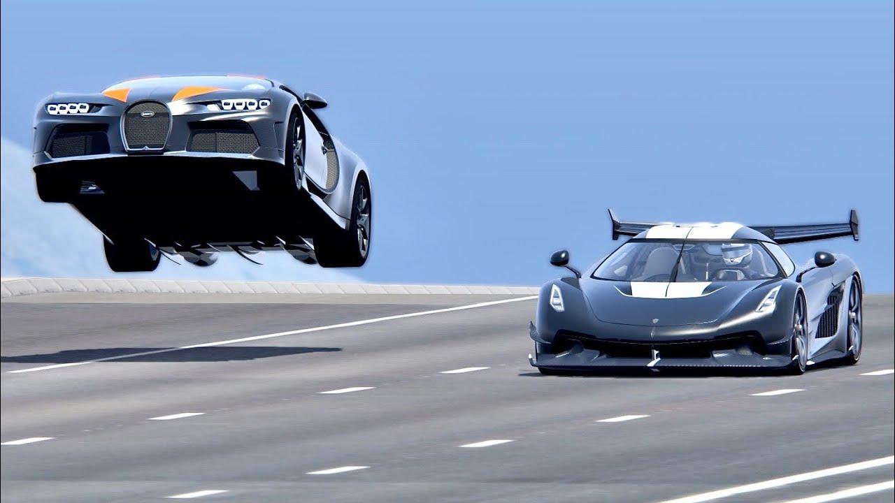 bugatti chiron super sport 300 vs koenigsegg jesko with jet engine drag race 20km youtube