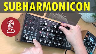 Moog SUBHARMONICON Full Tutorial with 9 patch ideas and pairings // New version reviewed