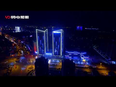Building media facade lighting curtain wall project with led dot light by YD illumination