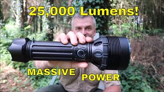 OLIGHT X9R MARAUDER FLASHLIGHT: 25,000 LUMENS!
