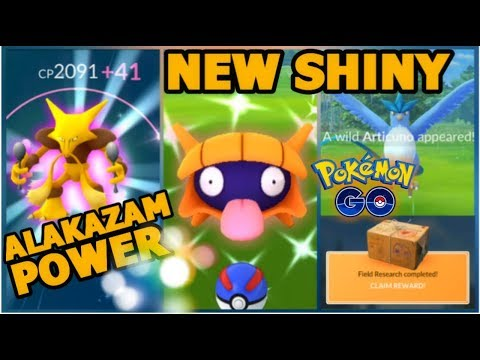 NEW SHINY FOUND IN POKEMON GO | RESEARCH BREAKTHROUGH ARTICUNO | ALAKAZAM POWER thumbnail