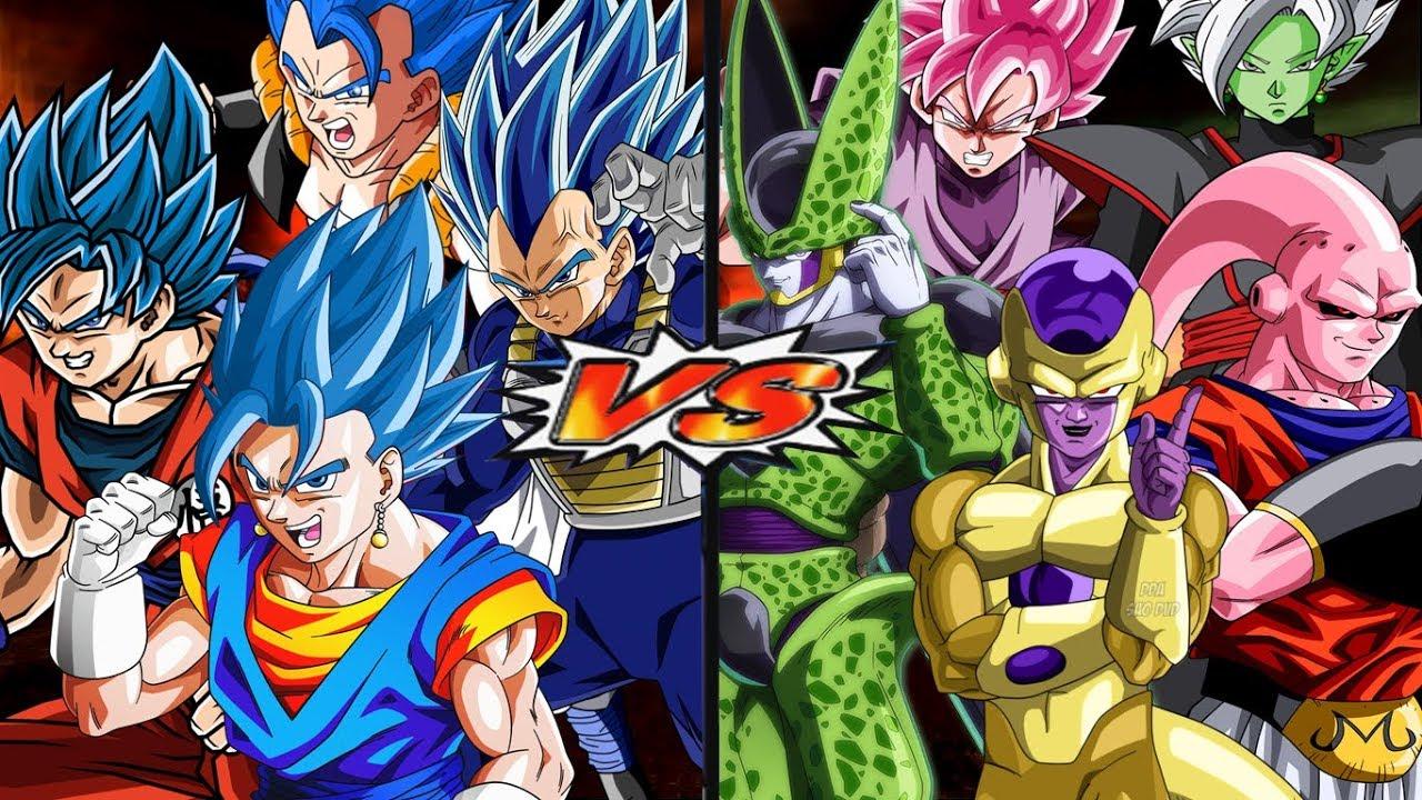 Super Saiyajins Blue Evolution VS Villains (DBZ and DBS)   Dragon Ball Z  Budokai Tenkaichi 3