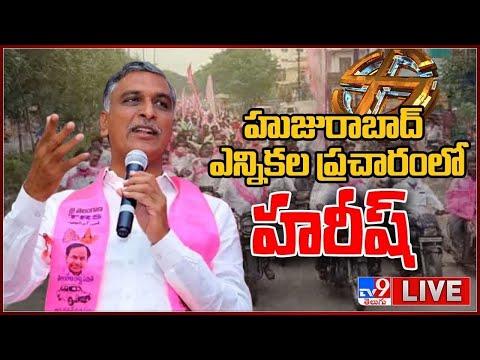 Minister Harish Rao LIVE || Gellu Srinivas Yadav Election Campaign @ Machanapally - TV9