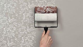 видео Оригинальная покраска стен самостоятельно и с помощью валика