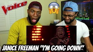 "The Voice 2017 Knockout - Janice Freeman: ""I'm Goin' Down"" (REACTION)"
