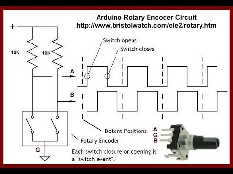 arduino rotary encoder circuit tutorial youtube rh youtube com  rotary encoder circuit diagram
