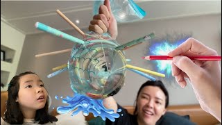 물풍선이 터질까? 안터질까? 절대 터지지않는 무적풍선~ 뾰족한 연필로 물풍선 터뜨리기 마술풍선 l 어린이과학실험 l kids science experiment