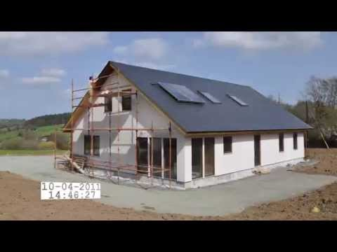 Passive house time lapse building in Wicklow