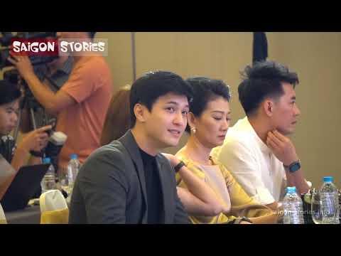 Dương Cẩm Lynh nắm tay Huỳnh Anh tình cảm trong event họp báo phim TIỆM ĂN DÌ GHẺ