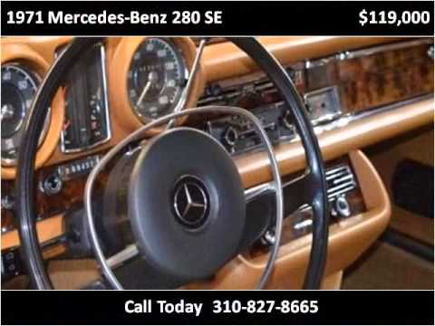 1971 mercedes benz 280 se used cars marina del rey ca for Mercedes benz marina del rey