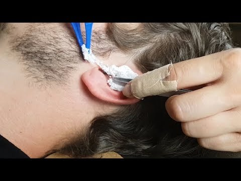 ASMR Sticky Foam In Real Ear *Preparation & Extraction* Lovely Sounds