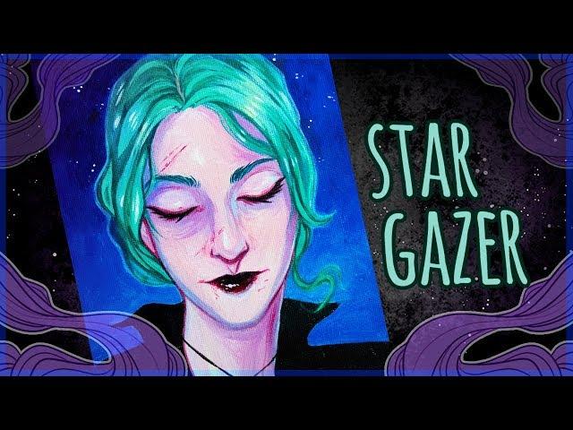 Stargazer • Acrylic Speedpainting • Art Chat