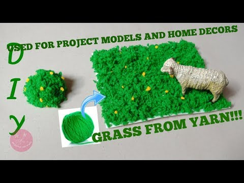 Easy DIY artificial grass used for home decor crafts and school projects | artificial moss