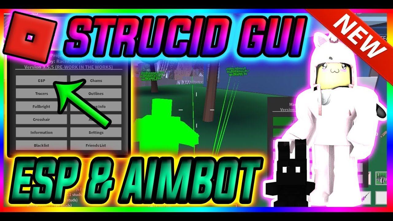 NEW SCRIPT STRUCID GUI, AIMBOT, ESP, CHAMS, GOD MODE ...
