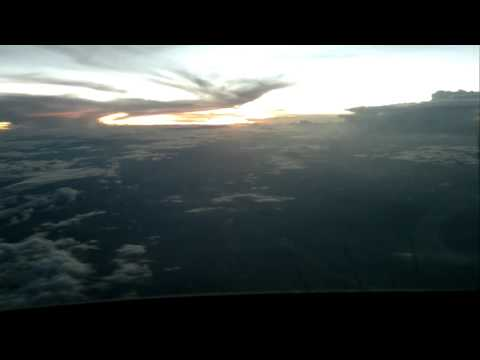 SBFZ RWY13 - Fortaleza APPROACH ILS VMC NIGHT (SUNSET TIME-LAPSE)