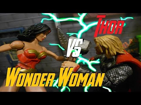 Thor Vs Wonder Woman Stop Motion Fight