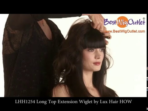 Lhh1254 long top extension wiglet by lux hair how youtube pmusecretfo Gallery